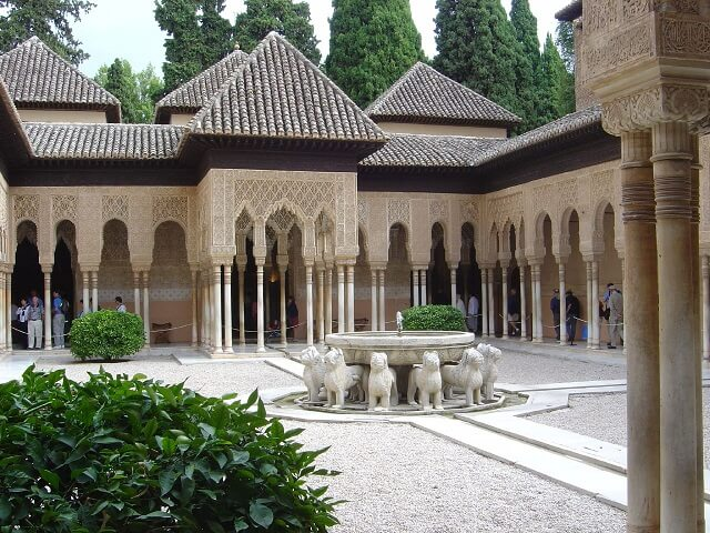 Patio Leones Alhambra, best things to do in Granada