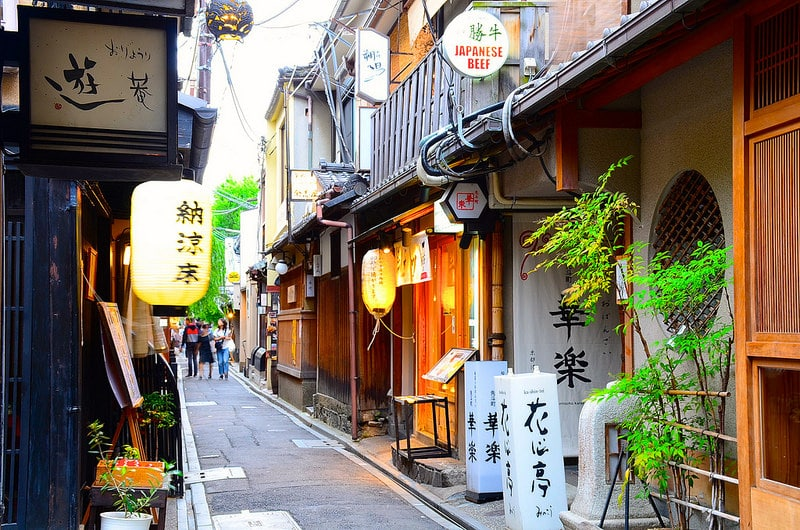Pontocho, best area to stay in Kyoto