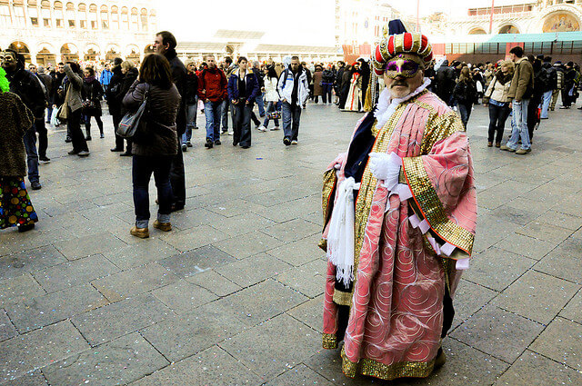 Venice Carnival, St Mark square