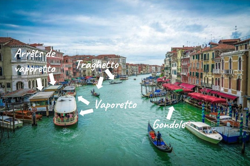 Venice transports different boats