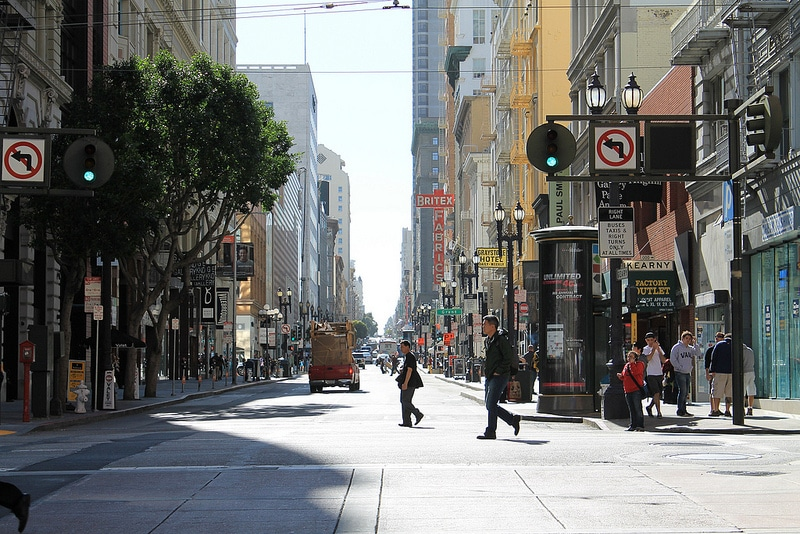 Downtown, best area to stay in San Francisco