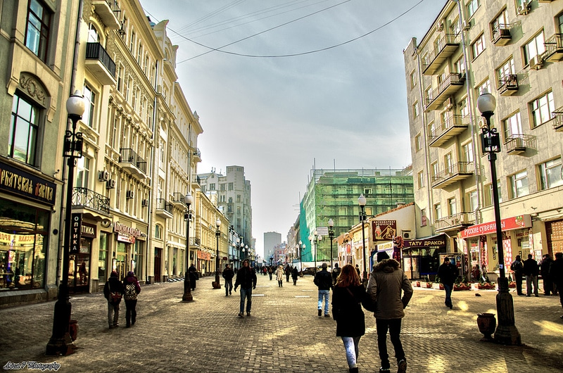 The old Arbate, best area to stay in Moscow