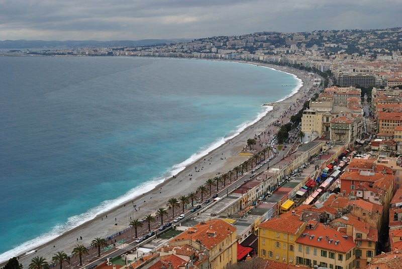 Promenade des Anglais, best area to stay in Nice