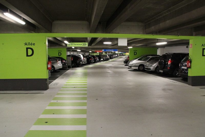 Cheaper parking lot, Roissy Airport Paris
