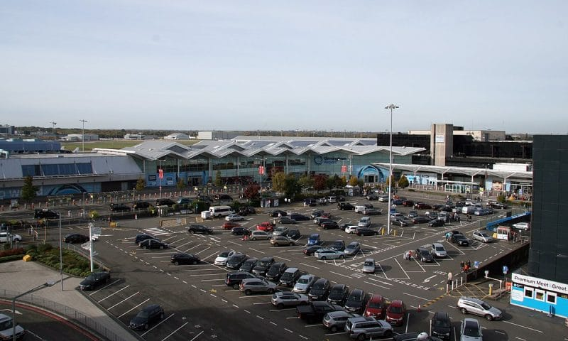 Where is this cheaper parking lot at Birmingham Airport located?