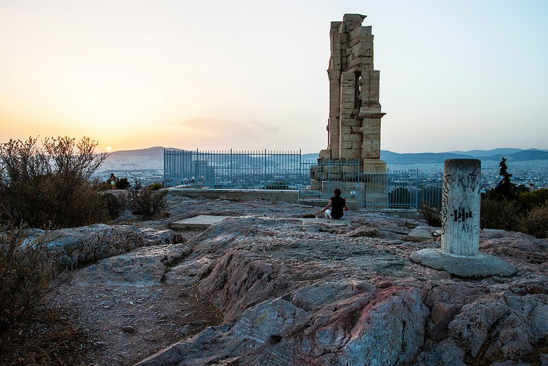 Visit Philopappos hill, Athens