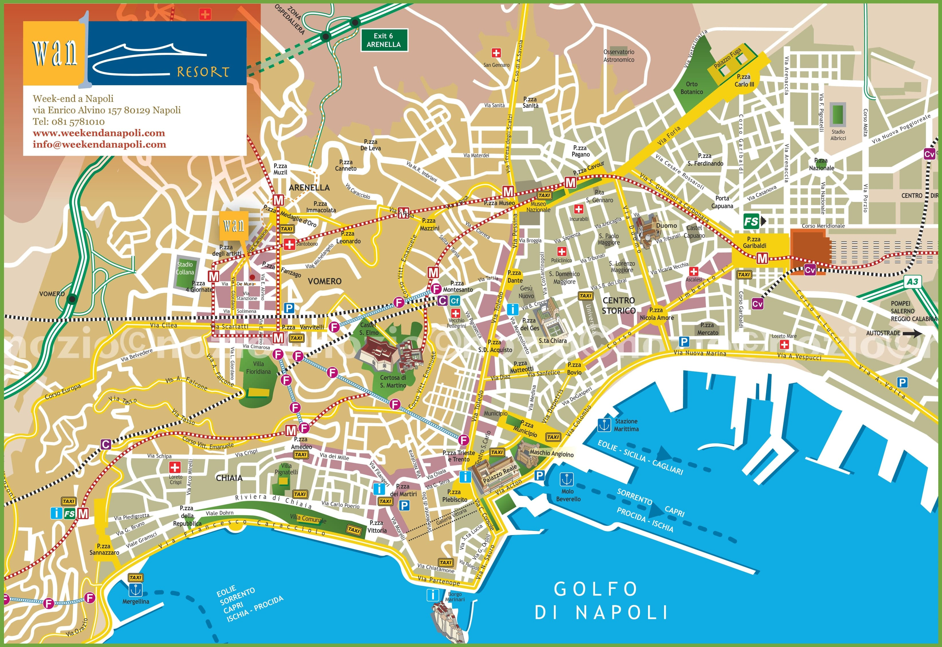 Buses from Naples Airport with Bus Routes and Times