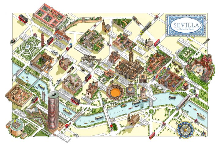Detailed maps of Seville
