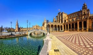 Visit the Plaza of Espana in Seville