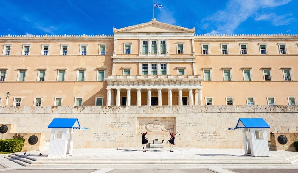 Visit Syntagma square in Athens